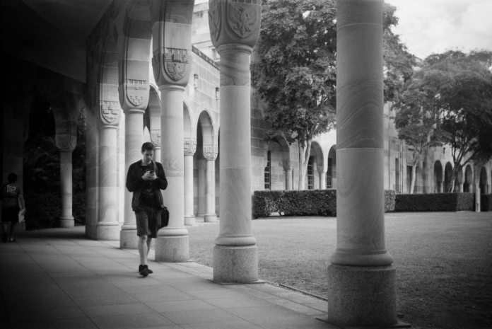 Brownie at University of Queensland's Great Court Kodak T400 CN