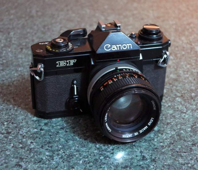 Canon EF - Like an automatic F-1, it's often referred to as the Black Beauty