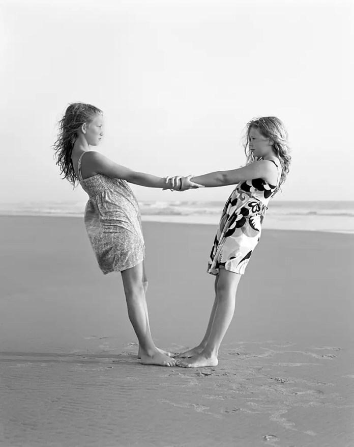 "Ellen and Vendela - Sinar F 4×5"" - Kodak Tri-X 320"