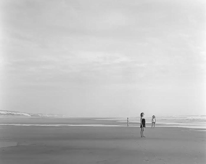 "Ellen, William and Vendela at Montalivet - Sinar F 4×5"" - Kodak Tri-X 320"