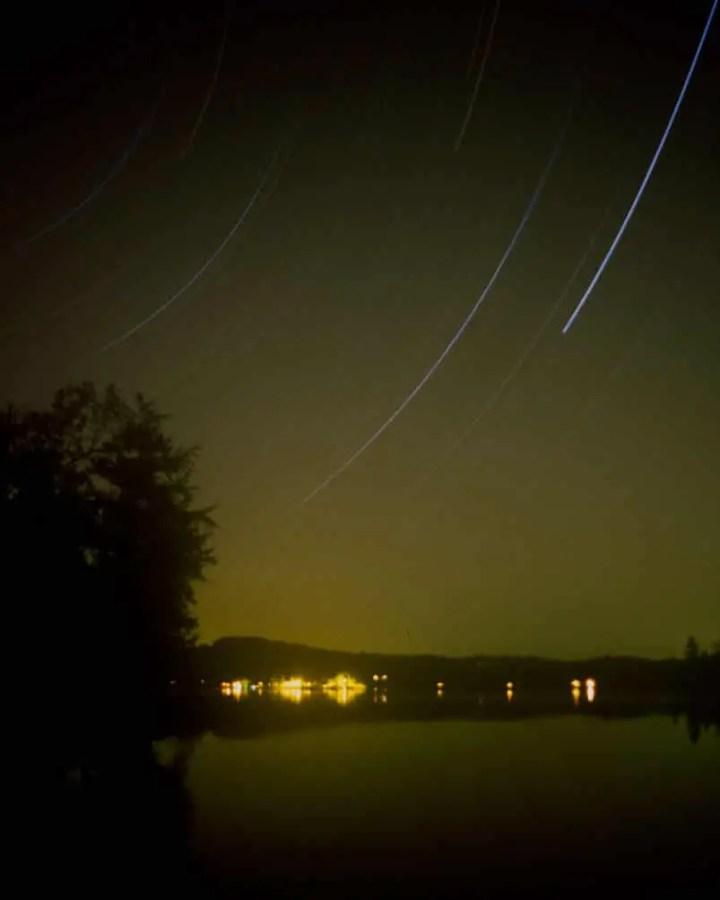 Star Trail of Paradox Lake - Kodak ELITE Chrome 100