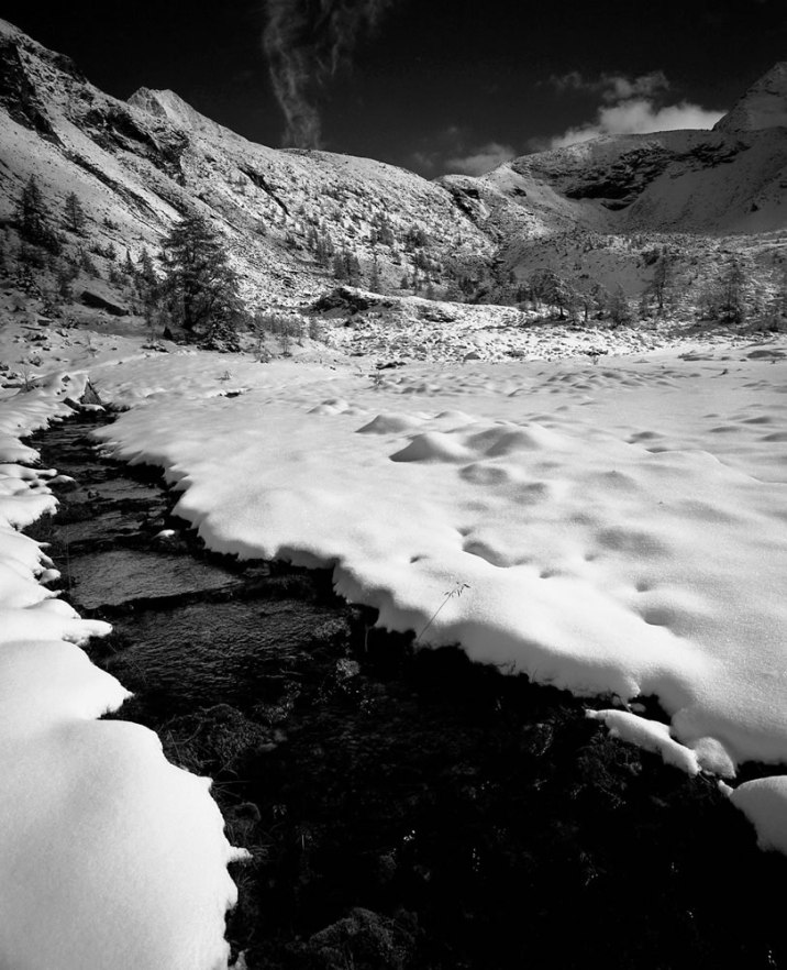 Stream, Hohe Tauern, Ankogelgruppe, Austria - Mamiya 7ii - Ilford Delta 100 Professional