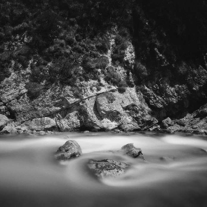 Three Rocks - Mamiya 7ii - Efke Aura 820 (Film developed three years after it was exposed)
