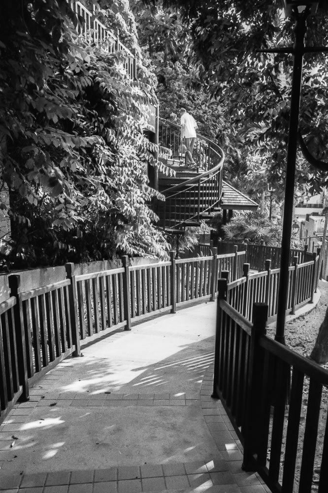 Pathway, Singapore - Leica M6 / 28mm Elmarit / Ilford HP5+ / Ilford HC