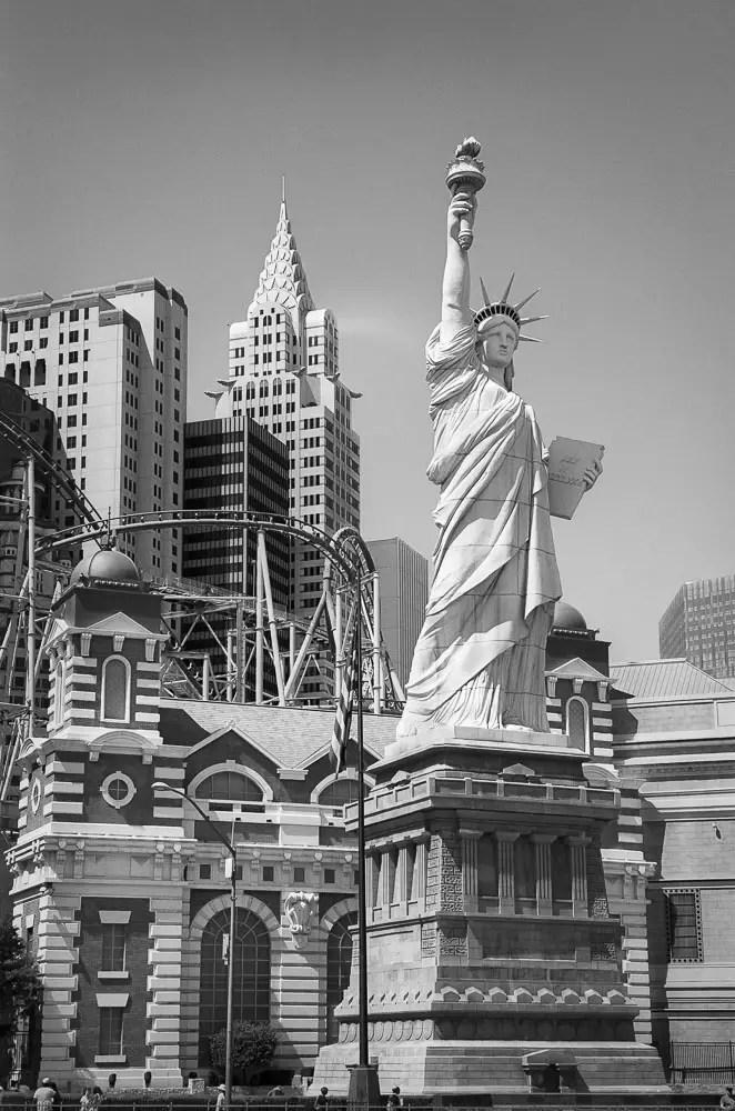 Statue of Liberty, Las Vegas, Ilford Delta 100 Professional, Leica M6 TTL, 2013