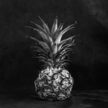 Pineapple light study #01 - Shanghai GP3 100 shot at EI 400. Black and white negative film in 120 format shot as 6x6.