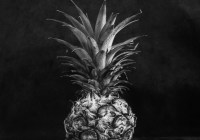 Pineapple light study #01 - Shanghai GP3 100 shot at EI 400. Black and white negative film in 120 format shot as 6x6.