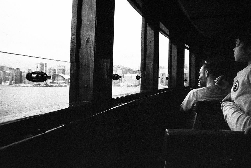 2015-06-22 - Looking out - Eastman 5222 shot at EI 800. Black and white film in 35mm format. Push processed 1+2/3 stops.