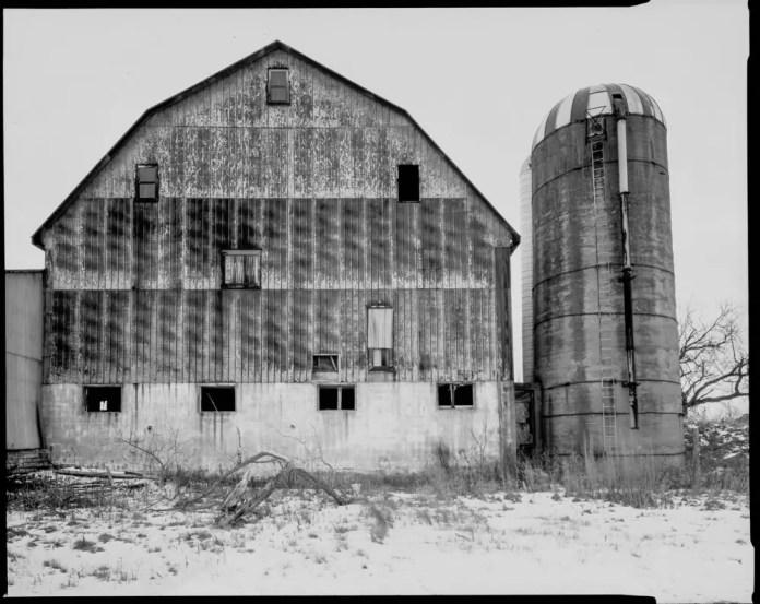 Paper negatives - Barn and Silo