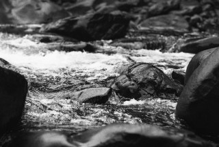 2016-08-02 - Rapids - Ilford Delta 400 Professional shot at EI 800. Black and white negative film in 35mm format. Push processed one stop.