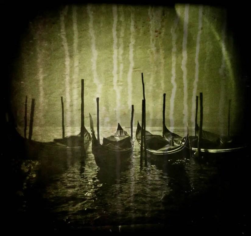 """""""Gondole, Italy"""" - Two Holga negatives superimposed"""
