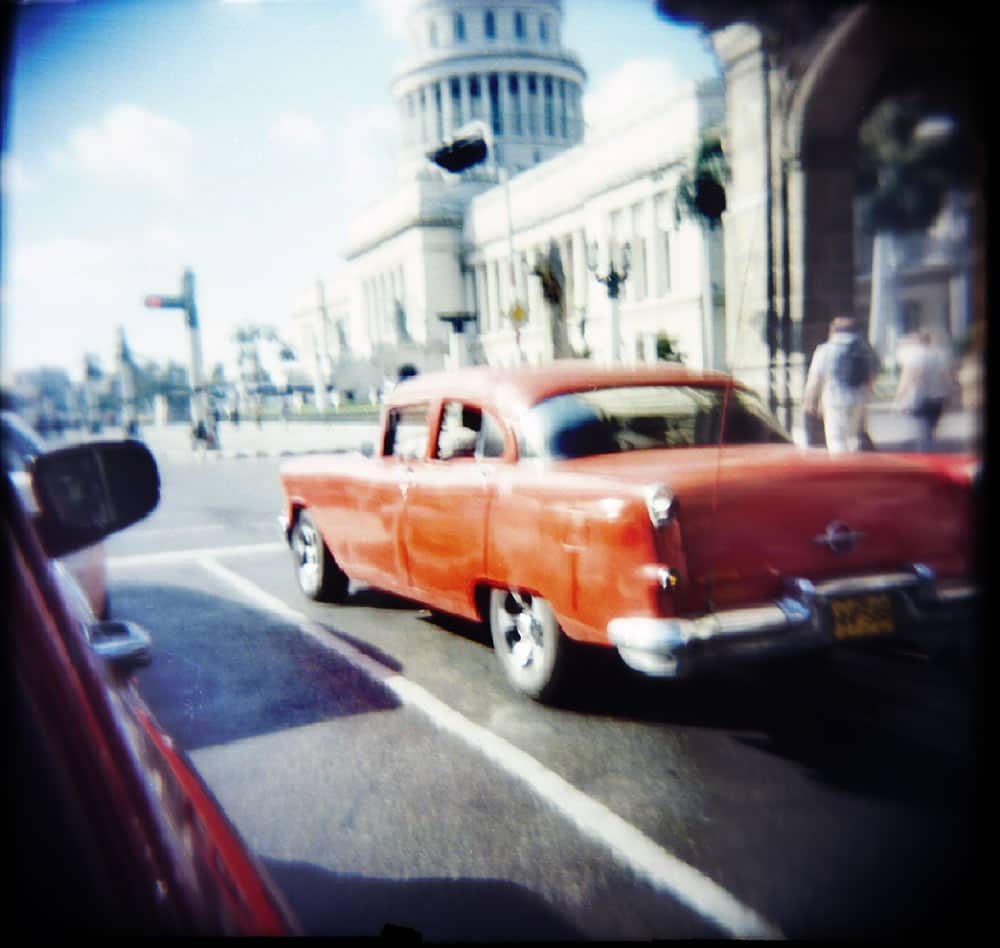 """Havanna Capitol"" - Holga N shot with unrecorded expired film"