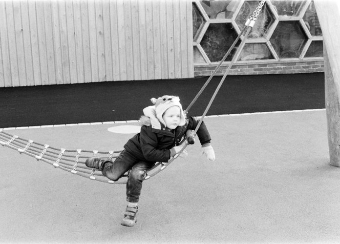 Swung out - Ilford Delta 400 Professional - Olympus OM10 - Michelle Parr, Harman Technology Sales and Marketing