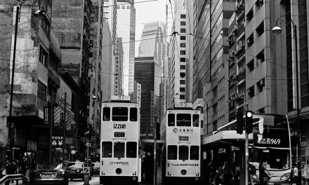 Twin trams – Fuji Acros 100 (120)