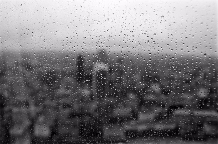 Sandeep - @Givemeabiscuit - Rain over London's skyscrapers.