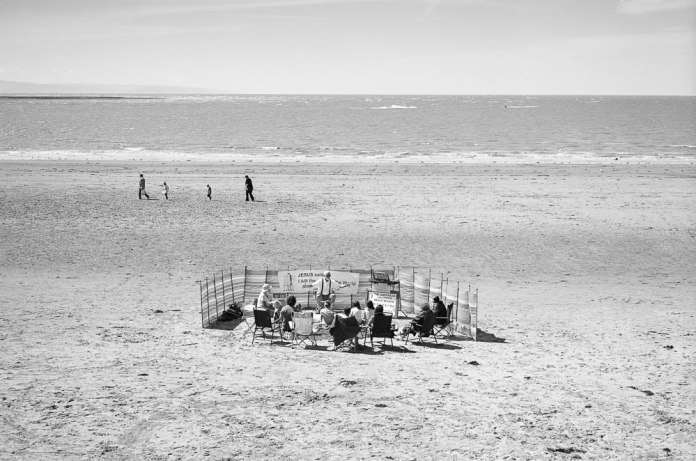 Sermon on the Sand, Ilford XP2 Super, Leica M6 TTL, 2016