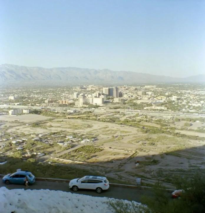 Tucson Skyline, Kodak Brownie Hawkeye, Portra 160
