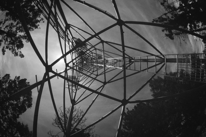 Radio Tower, Canon AE-1 Program, 15mm 2.8 Fisheye, Ektachrome 200, converted to BW in Post