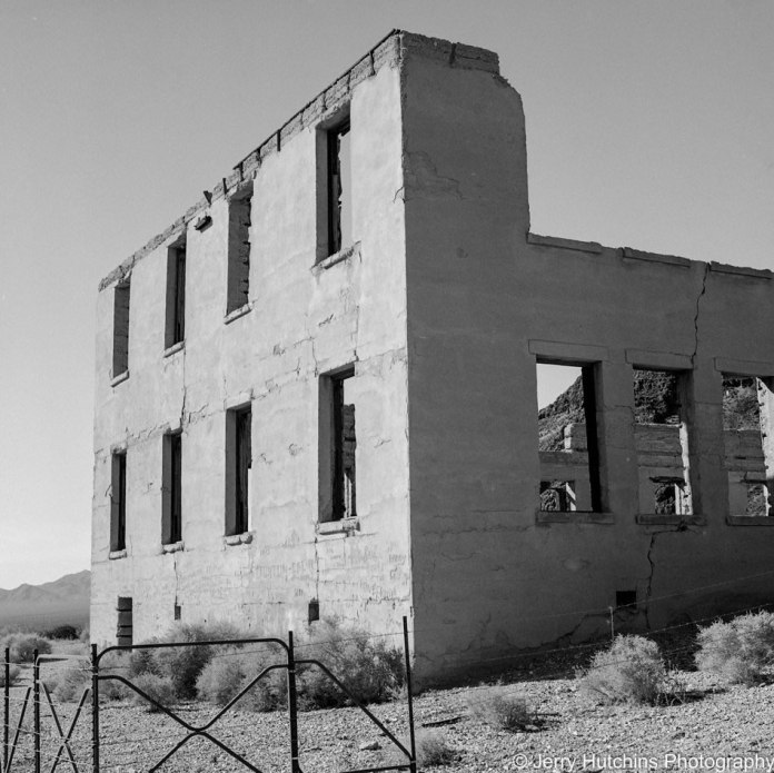 The PhotoJeeper - ‏@PhotoJeeper - I think I am late to the #FP4Party oh well better late than never. Rhyolite, NV - Hasselblad w/80mm
