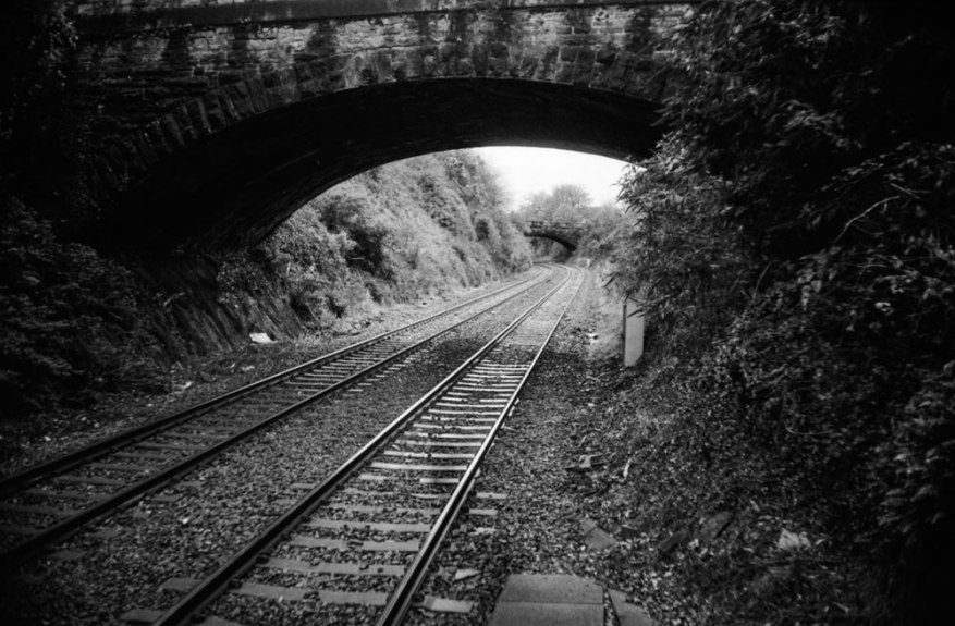Ashley B Williams - @Grumpyfck - Penultimate @FP4Party post. Devonport Dockyard station From both ends. #FP4Party #believeinfilm #52cameras52weeks