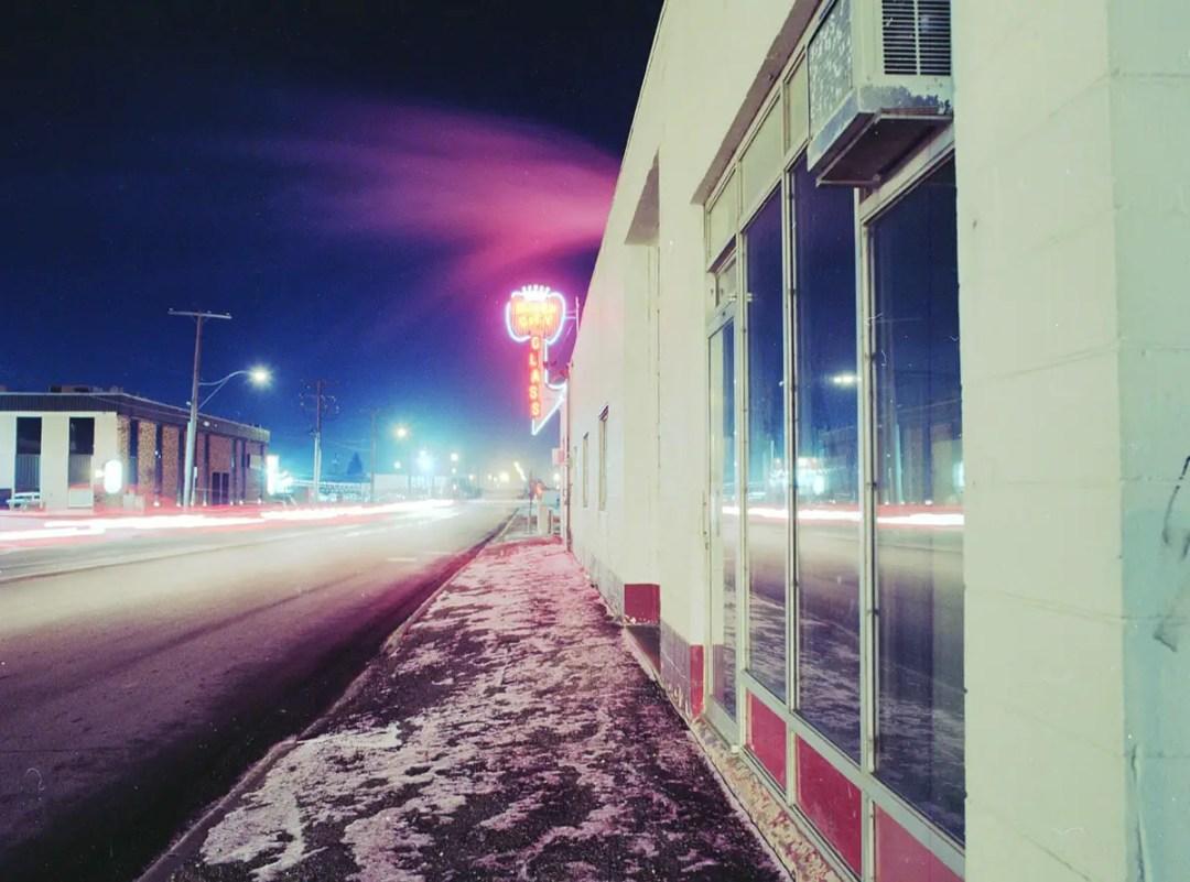 Queen City Neon Sign - Bronica ETRSi - Kodak Ektar 100