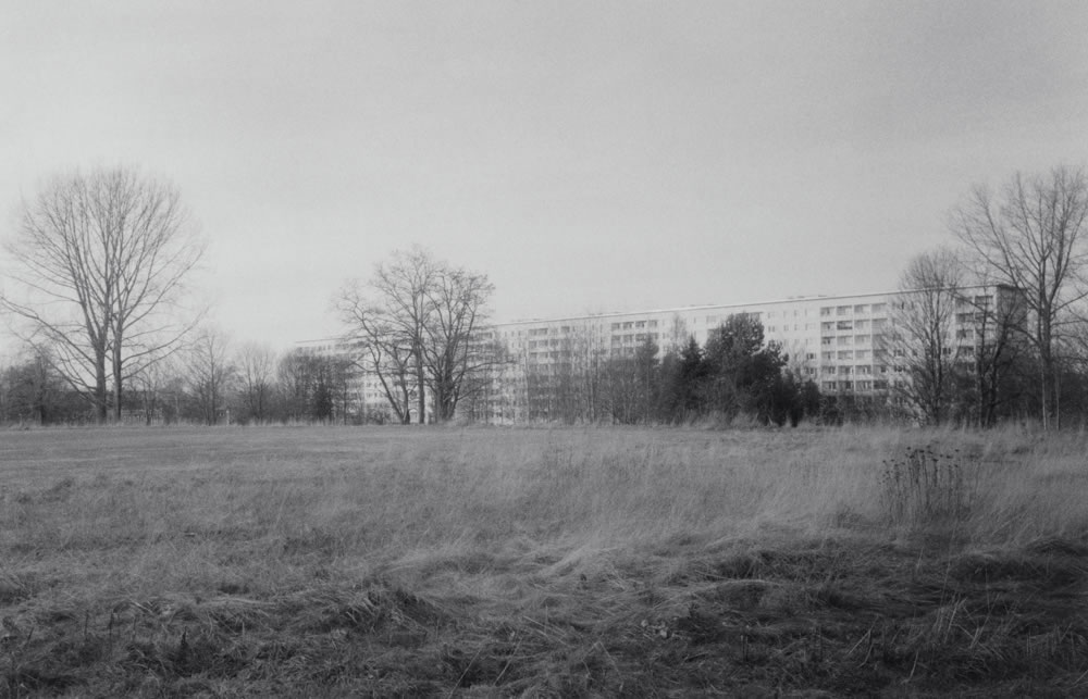 Sports ground, demolished Johannes-Kepler-Gymnasium, Chemnitz - Zorki 4K, Jupiter 12 35mm f/2.8, Kentmere 400.