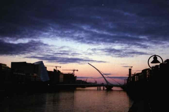 Dublin - Disposable camera - Dublin at dusk - Unknown film