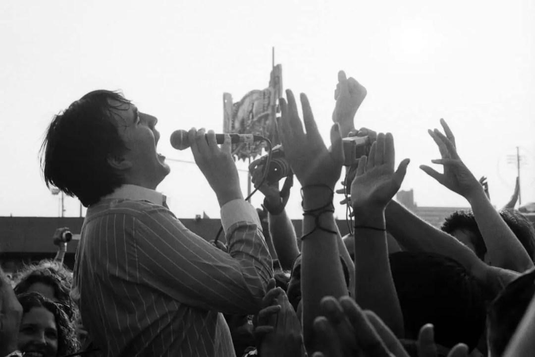 """""""Eddie Argos at Siren Festival"""" (Brooklyn 2006) - Leica M6 with Summicron 50mm f/2 lens and Kodak Tri-X 35mm film"""