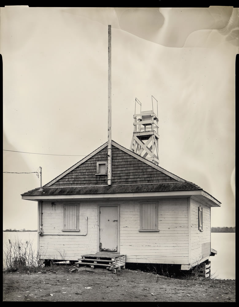 Paper negatives part 3 - Service Hut on Beach