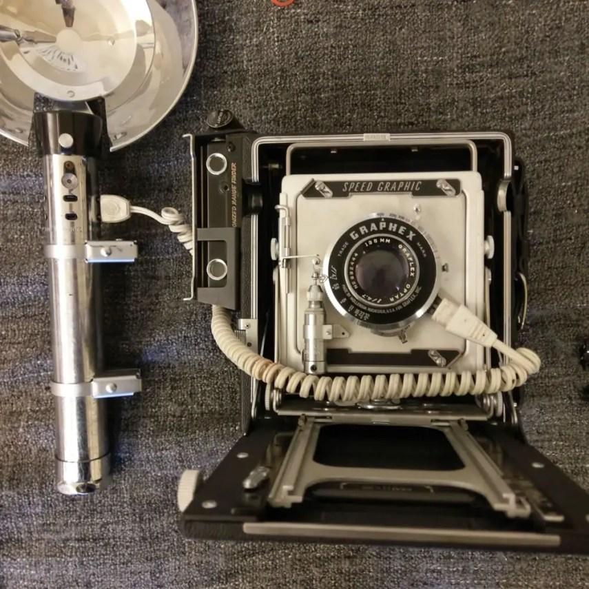 1953 Graflex Pacemaker Speed Graphic - Side mounted rangefinder