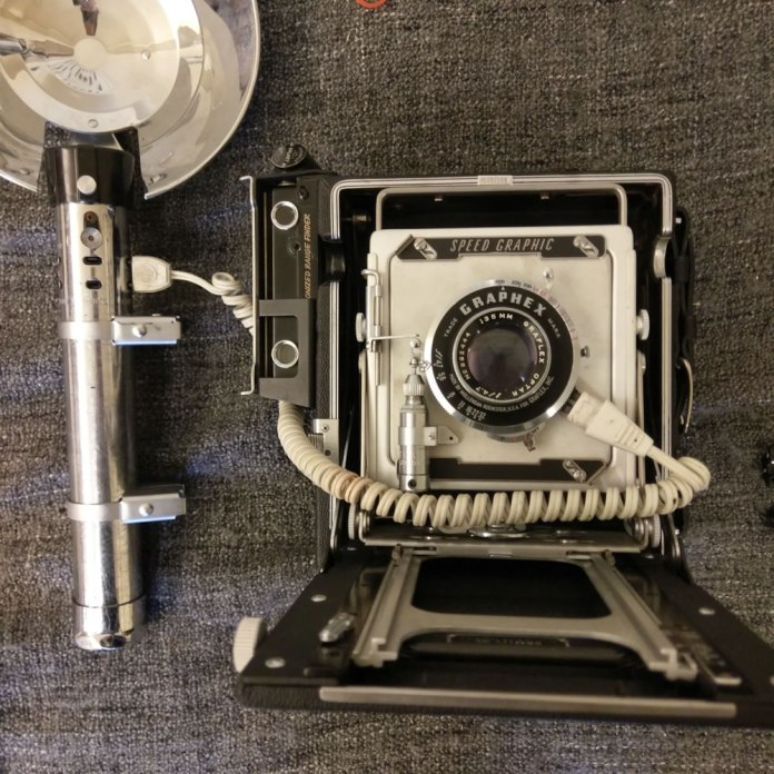 1953 Graflex Pacemaker Speed Graphic - Side mounted rangefinder