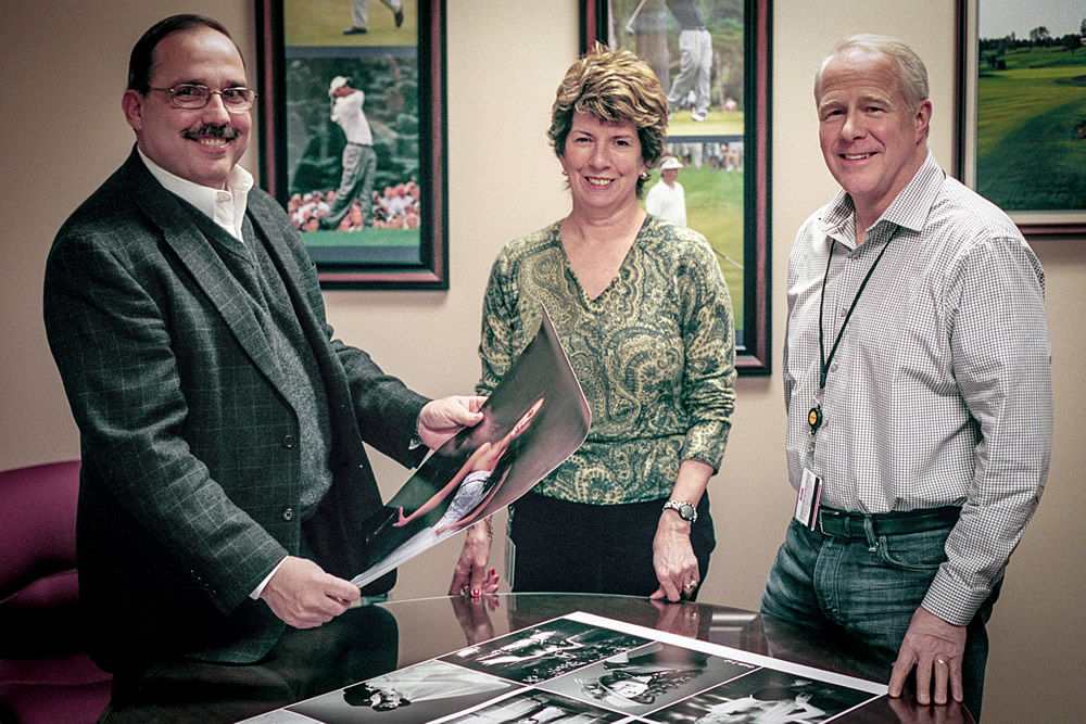 Kodak Alaris - Community Interview Team. Fron left to right: Dennis Olbrich, President – Kodak Alaris Imaging, Paper, Photo Chemicals and Film. Therese Corrigan-Bastuk, Worldwide Brand Director. Thomas J. Mooney, Film Capture Business Manager.