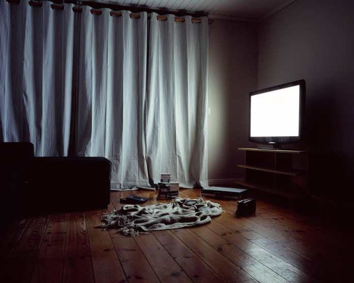 TV and video tapes - From A Partial Print (2013). Fujichrome Provia 100F, Mamiya 7, Sweden