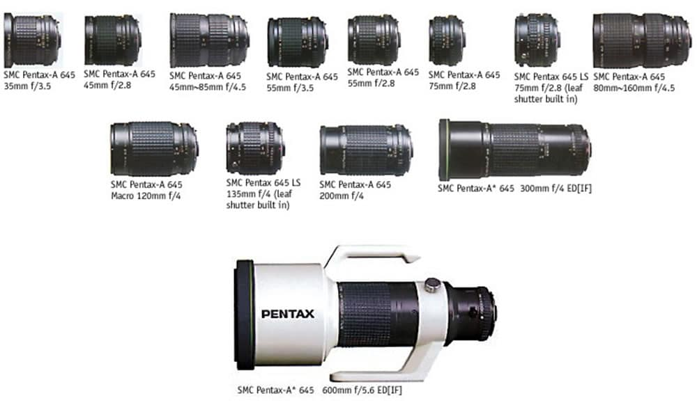 Pentax 645 - Lenses. Image by - Gian Luca Agnoli, Chrysis.net PHOTOGRAPHY
