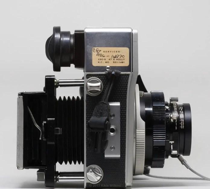 Mamiya Super 23 bellows with focusing screen holder (bellows extended)