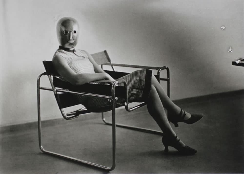 Bauhaus Scene (Lis Beyer or Ise Gropius in a tubular steel chair by Marcel Breuer), photo: Erich Consemüller, 1926. Klassik Stiftung Weimar / Collection of Wulf Herzogenrath / © Stephan Consemüller. Source: https://www.bauhaus100.de/en/past/people/students/erich-consemueller/index.html