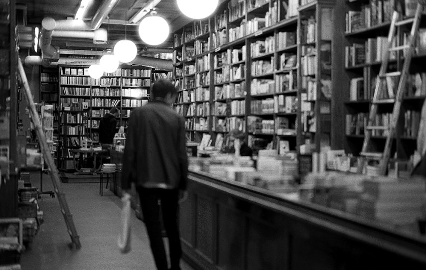 Sweden, Leica M6, ILFORD HP5+ - I envy the west and their little quaint bookstores. I used to shoot them regularly so I'd have inspiration for my cafe here in Manila. But it ended up being a sport for me now... taking photos of quaint bookshops & libraries.