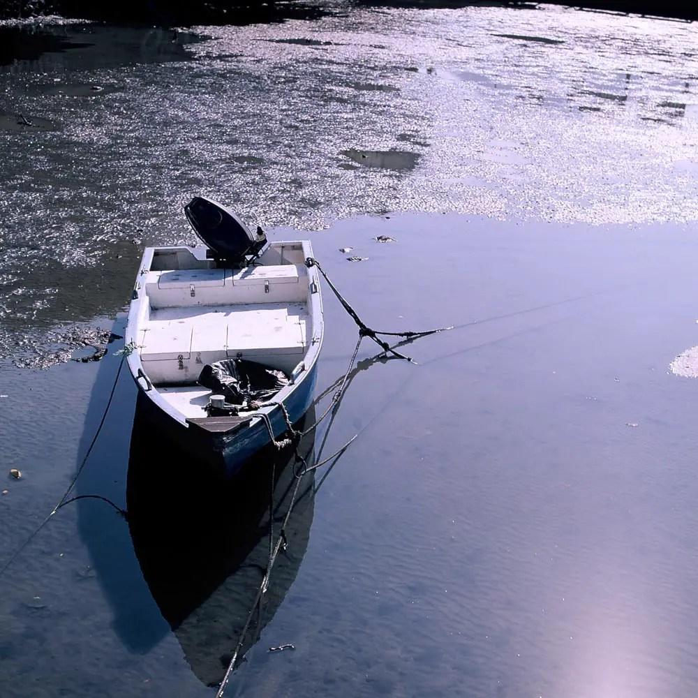 Well moored - Shot on Fuji Velvia 50 (RVP50). Colour reversal (slide) film in 120 format shot as 6x6.