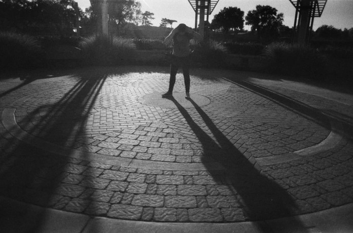 Heidi in shadow - Tasma FN 64 - Pentax ME - Wichita, KS