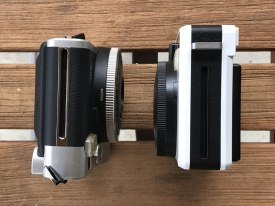 Leica Sofort and Fuji Instax Mini 90 - film ejection slots
