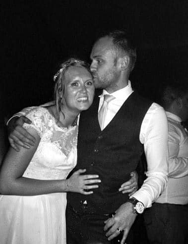 The happy couple - Helen Kelsall's Wedding - Ilford HP5+ Single Use Camera