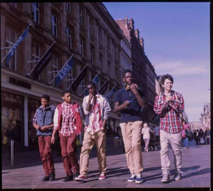 Glasgow Boy Band - Expired Kodak E100G, partially exposed in 2012 and 2016, Developed 2016, Yashica 124G