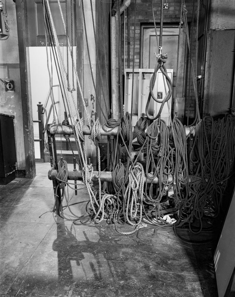 Runnymede Theatre - Backstage Linhof Technika V Ilford HP5+