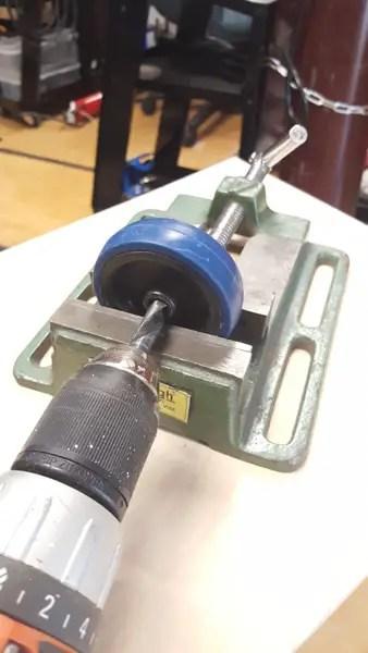 Building a semi-automatic film processor - cater wheels