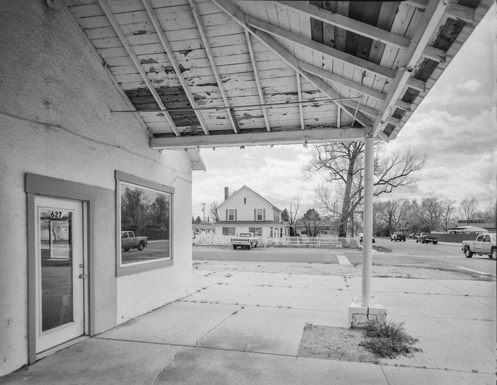 Platteville - Main Street, Platteville, CO June 2017 (Zone VI 4x5, 90mm, Arista EDU 100) - Kenneth Wajda Photographer