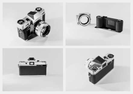 Reflex - The Reflex I camera with I-Plate and I-Mount, and left-centered flash hot shoe