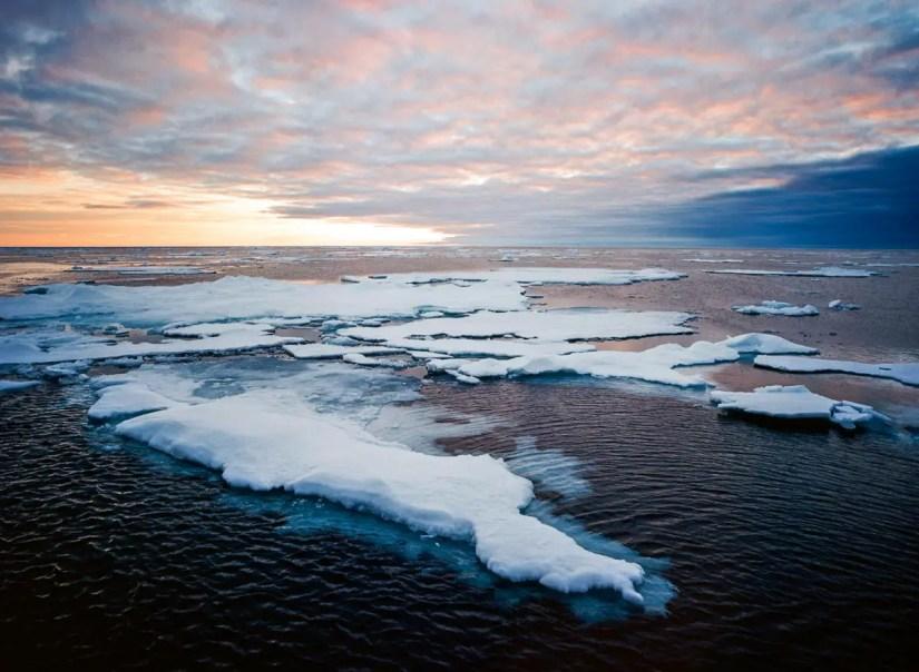 Arctic Sunset - Contax 645, Kodak Portra 400