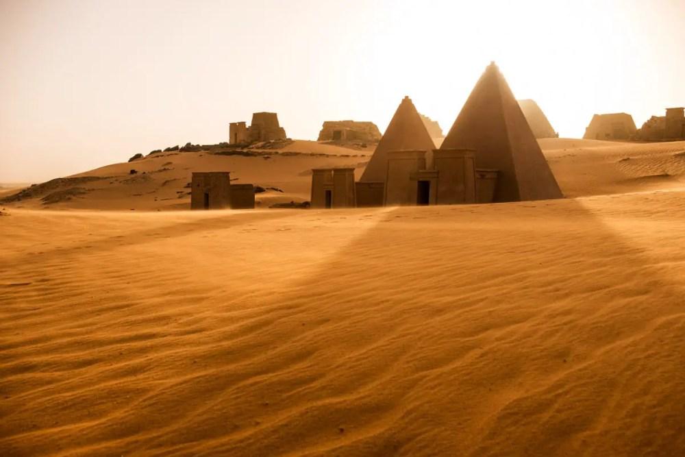 Nubian Pyramids - Mamiya 7II, Kodak Portra 400