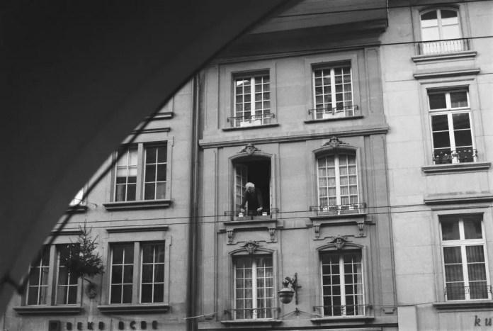 Taken with a Pentax K1000 on ILFORD FP4 PLUS in Bern, Switzerland.