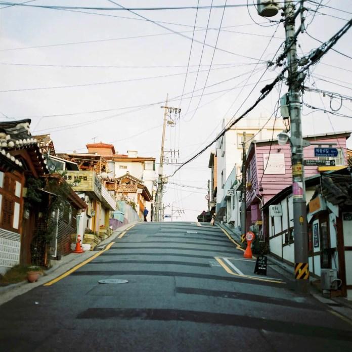 Taken with a Hasselblad 503 CW on Kodak Portra 400 in Seoul, South Korea.